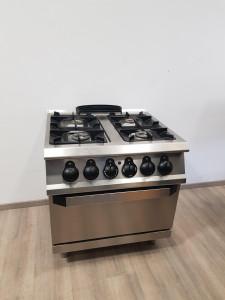 CUCINA A GAS A 4 FUOCHI - FORNO ELETTRICO - Usato Casagrande Cucine